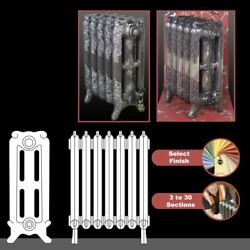 The Charlestone 570mmhigh Cast Iron Radiators 3 To 30 Sections Wide