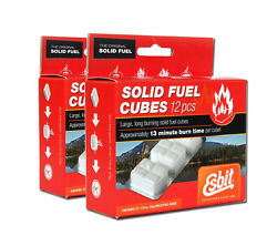 Solid Fuel Cubes 24 Pack Esbit 14g Hexamine Tablets For Stove Or Fire Starter