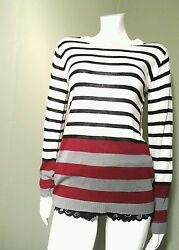 Charming Charlies Women's Multi Colored Striped Top Size M