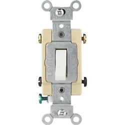 3 Pk Leviton White 15a Grounded Quiet 4-way Toggle Light Switch S02-cs415-2ws