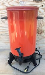 Vintage Mirro Matic Electric Coffee Percolator Poppy Red 22 Cup