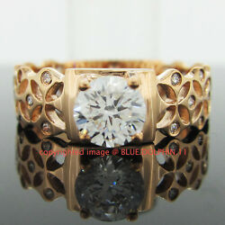 Antique Genuine Solid 9ct Rose Gold Engagement Wedding Rings Simulated Diamonds