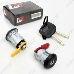 Door Lock Completset + 2 Keys Front Right-left Replacement For Ford Escort Vii