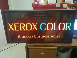 Xerox Lighted Sign. Collectible. Advertising.