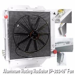 3 Row 2.28 Core Thickness Performance Radiator+16 Fan For 87-06 Jeep Wrangler