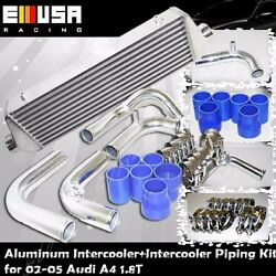 Fmic Intercooler+piping+silicones+clamps For 02-05 Audi A4 1.8t B6 Fmic Upgrade