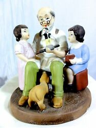 Sterling Treasury Norman Rockwell The Toymaker Statue - Exquisite - Numbered