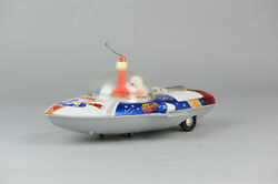Antique Red China Tin Toy Me2004 Zeus Forces Spaceship Shanghai Me Ms Old