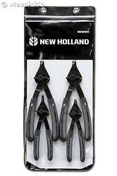 New Holland Agriculture 4 Piece Snap Ring Plier Set.