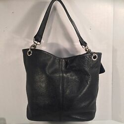 COVINGTON Black Pebble Leather  Shoulder Bag Purse 10X5X10X9