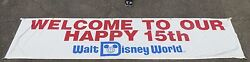 Walt Disney World 15th Anniversary Welcome Banner Display Sign Prop Mickey Mouse