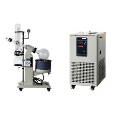 5L Rotary Evaporator Motor Lifting Turnkey Package w Chiller