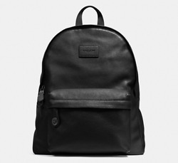 Coach Campus Backpack in Pebble Leather 72320 BKBLK - Authentic