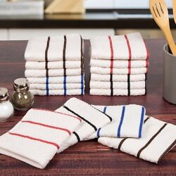 Somerset Home 16 Piece Cotton Chevron Terry Kitchen Towel W