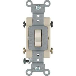 6 Pk Leviton Almond 15a Grounded Quiet 4-way Toggle Light Switch So6-cs415-2ts