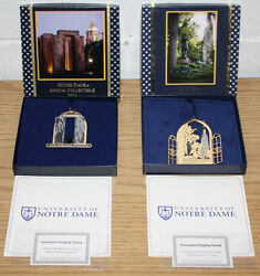University Of Notre Dame Annual Collectibles 2011 And 2013, Christmas Ornaments