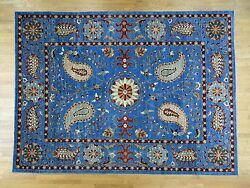 10and0391x13and0399 Hand-knotted Pure Wool Peshawar Suzani Design Oriental Rug R36779