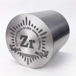 1kg Fine Turning Zirconium Metal Cylinder 59×59mm 99.5 Engraved Periodic Table