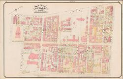 1890 Montreal Canada St. Lawrence Ward Cyclorama St. Maryand039s College Atlas Map