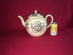Lc3 Staffordshire Creamware Punch Pot Huge Ca. 1790and039s Brewers Arms Liverpool