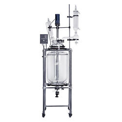 lab1st 100L Jacketed Glass Chemical Reactor,Glass Reaction Vessel