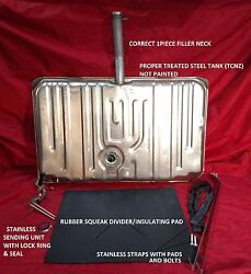 Gas Tank For 1970 Chevelle No Vents - 2 Line Sending Unit - Straps And Tank Pad