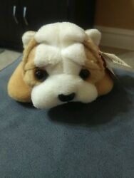 Wrinkles The Bulldog Ty Beanie Baby. Rare New Mwmt P.v.c. Pellets And Errors