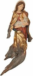 Madonna Con Bambino In Tronco Antico - Our Lady With Child In Ancient Trunk