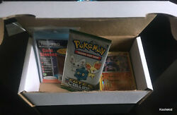 100x - 300x Mixed Pokemon Cards Gift Box Set With Booster And 100 Card Sleeves Tcg