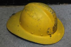 Vintage Msa Phenolic Fire Department Firemanand039s Fire Fighters Helmet With Liner