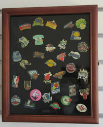 Lockable Display Case Wall Cabinet Shadow Box For Lapel Pins-medals-beach Tags