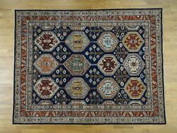 9and0391x11and03910 Peshawar Antiqued Heriz Hand-knotted Pure Wool Oriental Rug R36813