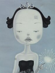 Chinese Modernist Zhang Hui Wawa Doll Series Painting Well Listed