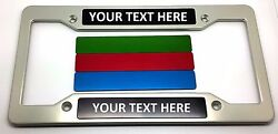 Personalized Hmc Billet Aluminum License Plate Frame, Clear Anodized, Cdwp