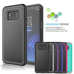 For Samsung Galaxy S8 S8 Plus Shockproof Hybrid Rugged Rubber Hard Case Cover