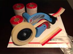 Genuine Dual Tac Tape® And Dispenser Combo - 12 Rolls W/ Free Shipping