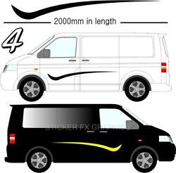 Graphic Decals Self Adhesive Vinyl Stickers Any Vehicle Vw Campers Motorhome D4
