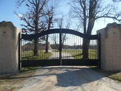 Wrought Iron Entry Gates (double)