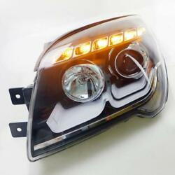Outer With LED DRL And Bi-xenon Projector Headlamp Refit For Kia Sportage 07-12