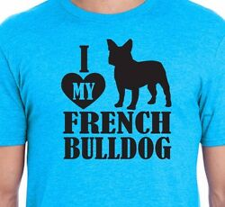 I LOVE My FRENCH BULLDOG Puppy Love Pet Paws Men's & Women's Unisex T-Shirt