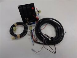Ignition / Switch Panel With Harness Black / Gray 6 1/4 X 5 1/4 Marine Boat