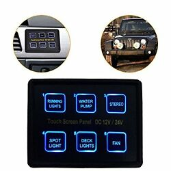 Mictuning 12V24V 6 Gang LED Switch Panel Slim Touch Control Box For Car Marine