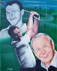 Arnold Palmer Original Painting By Robert Emerald Shappy