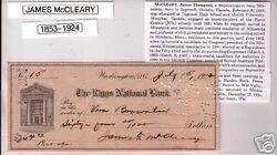 Rep. James Mccleary Mn Signed Autograph Check