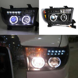 Angel Eye+HID Xenon Lamp+Projector Headlamp Assembly Fit For Toyota Tundra 07-11