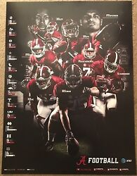2017 Alabama Crimson Tide Football Fan Day Poster Ridley Hurts Scarbrough