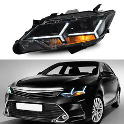 Auto LED HID Xenon+Lens Headlamps Assembly For Toyota Camry 12-14 North American