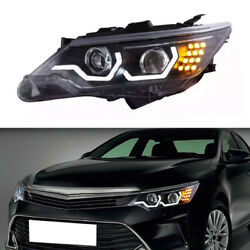 LED Guide Lamp+Ballast+Lens+Xenon Headlamps Assembly Fit For Toyota Camry 12-14