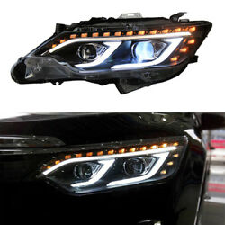 2pcs Xenon+Lens+LED Guide Light Headlamps Assembly Refit For Toyota Camry 12-14