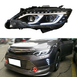 Right&Left Headlamps Assembly LED Lamps+Xenon+Lens Adorn For Toyota Camry 13-15